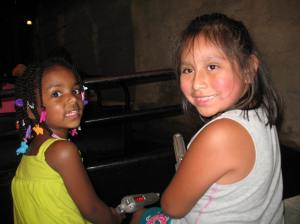 The girls were having such a great time at Silver Dollar City.