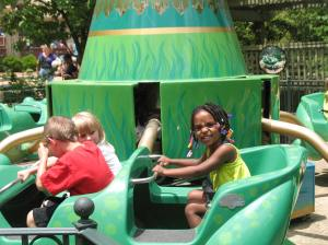 Naomi wasn't quite sure about riding by herself, but she was a real trooper.