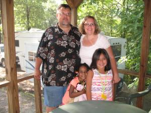 And a family photo op as we got ready to head home and leave our little cabin in the woods behind.