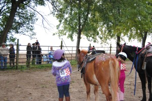 Lili was #95 and patiently waiting with Cooper to here the results of Paint Your Pony.
