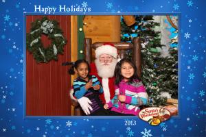 Lili and Naomi w/Santa - December, 2013