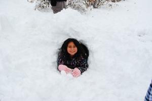 Crawling thru the snow tunnel