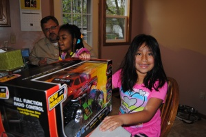 She really wanted a remote control car.  She received a remote control truck and is so happy!!