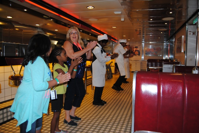 Then getting up to dance with some of the crew at Johnny Rockets.