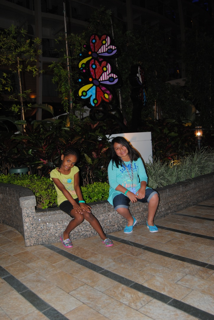 My beautiful girls in Central Park on Allure of the Seas.