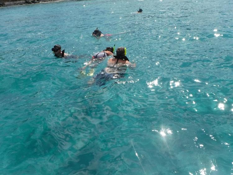 Snorkling at St. Thomas
