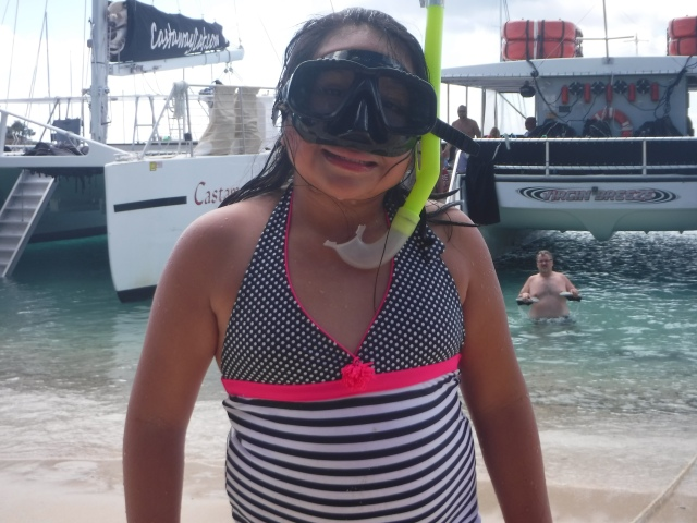 Once Lili got the hang of it, she was all about snorkeling.