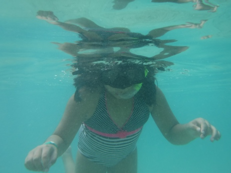 Like I said, she loved snorkeling.