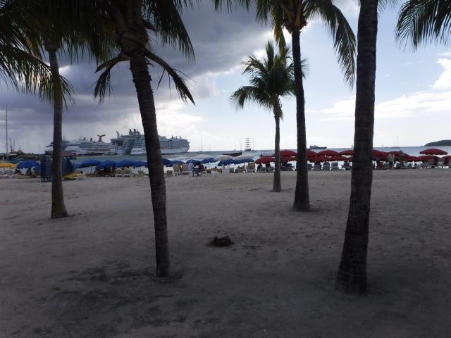 Even with the clouds, St. Maarten was beautiful.