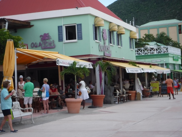 Our St. Maarten lunch spot. The girls stayed on board enjoying time in Adventure Ocean while hubby and I spent our day together.